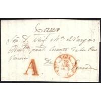 1852. ESPAÑA. SPAIN. TAPIA A GRANADA.