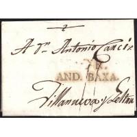 1803. ESPAÑA. SPAIN. MOTRILA A VILANOVA I LA GELTRU.