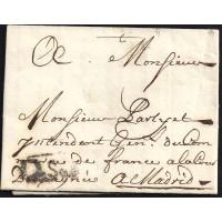 1750. ESPAÑA. SPAIN. SEVILLA AL INTENDENTE GENERAL DE COMERCIO DE FRANCIA EN MADRID.