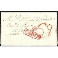 1832. ESPAÑA. SPAIN. VEJER DE LA FRONTERA A CADIZ.