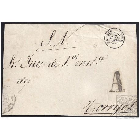 1860. ESPAÑA. SPAIN. MADRID A TORRIJOS.
