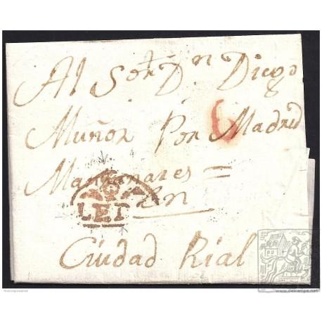 1822. ESPAÑA. SPAIN. MAZARAMBROZ A CIUDAD REAL.