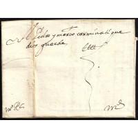 PRECURSORES. 1650. ESPAÑA. SPAIN. ALBACETE A MADRID. PRIMERA CARTA CONOCIDA.