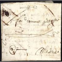 PRECURSORES. 1649. ESPAÑA. SPAIN. MÁLAGA A MADRID.