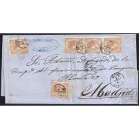 ASTURIAS. 1868. ESPAÑA. SPAIN. 50 MILS. ED. (5). GIJON A MADRID.
