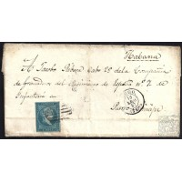 LUGO. 1857. ESPAÑA. SPAIN. 1 REAL. ED. 41. LUGO A PUERTO PRINCIPE.