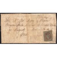 LA CORUÑA. 1864. ESPAÑA. SPAIN. 4 CUARTOS. ED. 67. MUROS A MANZANILLO. CUBA.