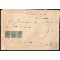 CUENCA.1921. ESPAÑA. SPAIN. 30 CTS. ED. 275. CERTIFICADO HUETE A PALMA.