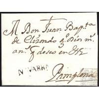 1760. ESPAÑA. SPAIN. LA OLIVA A PAMPLONA.
