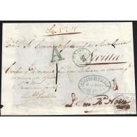 1856. ESPAÑA. SPAIN. CADIZ A SEVILLA.