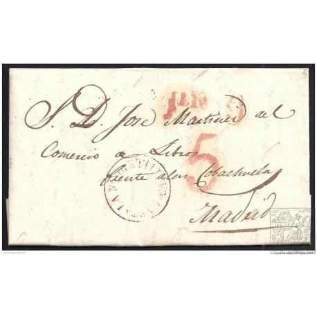 1841. ESPAÑA. SPAIN. RIAZA A MADRID.