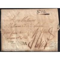 CORREO PROCEDENTE DEL EXTRANJERO. INCOMING MAIL. 1781. ESPAÑA. SPAIN. FRANCIA. FRANCE. DUNKERQUE A CADIZ.