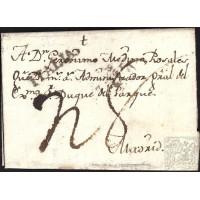 CORREO PROCEDENTE DEL EXTRANJERO. INCOMING MAIL. 1801. ESPAÑA. SPAIN. ROMA A MADRID.