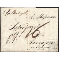 CORREO PROCEDENTE DEL EXTRANJERO. INCOMING MAIL. 1804. ESPAÑA. SPAIN. POLONIA. STETTIN A TARRAGONA.