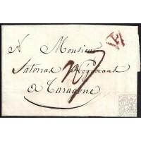 CORREO PROCEDENTE DEL EXTRANJERO. INCOMING MAIL. 1807. ESPAÑA. SPAIN. RUSIA. SAN PETERSBURGO A TARRAGONA.