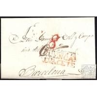 1828. ESPAÑA. SPAIN. ALBACETE A BARCELONA.