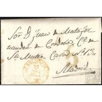 1844. ESPAÑA. SPAIN. BELMONTE A MADRID.