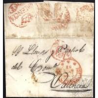 1853. ESPAÑA. SPAIN. CUENCA A VALENCIA.