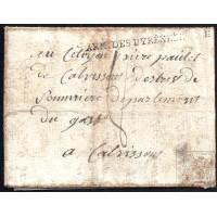 "EF. REVOLUCIÓN. 1794. ESPAÑA. SPAIN. SANT LLORENÇ DE LA MUGA (GERONA) A FRANCIA. MARCA ""ARM. DES PYRÉNEES ORILES"""