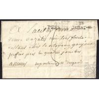 """EF. REVOLUCIÓN. 1795. ESPAÑA. SPAIN. """"CAMP DE LA REPUBLIQUE"""" A FRANCIA. MARCA """"ARMEE DES/PIRÉNEES ORIENTLES"""". ORIGEN INÉDITO."""