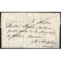 "EF. NAPOLEÓN. 1808. BAYONA A AVIGNON. FRANCIA. FRANCE. MARCA ""P.P./BAU GAL/ARM. FRANÇAISE/EN ESPAGNE""."