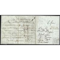 """EF. NAPOLEÓN. 1810. ESPAÑA. VOIRON AL COMISARIO DE JACA. MARCA """"BAU GAL/ARM.FRANÇAISE/EN ESPAGNE"""". AL DORSO """"DÉB.64/OLERON""""."""