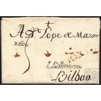 1796. ESPAÑA. SPAIN. MEDINA DE POMAR A BILBAO.