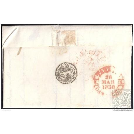 1850. ESPAÑA. SPAIN. MADRID A TARRAGONA.