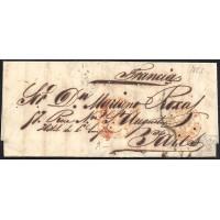 1853. ESPAÑA. SPAIN. MADRID A PARIS.