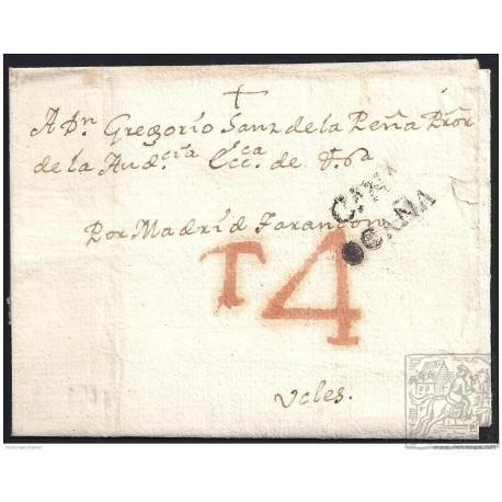 1801. ESPAÑA. SPAIN. OCAÑA A VALES.