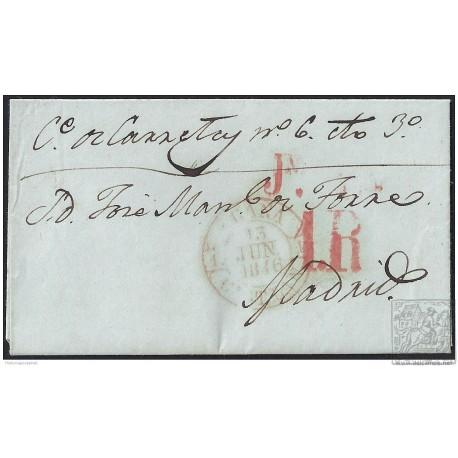 1846. ESPAÑA. SPAIN. OCAÑA A MADRID.