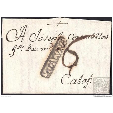 1786. ESPAÑA. SPAIN. CERVERA A CALAF.