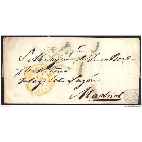 1844. ESPAÑA. SPAIN. VALENCIA A MADRID.