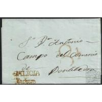 1849. ESPAÑA. SPAIN. PADRÓN A PONTEVEDRA.