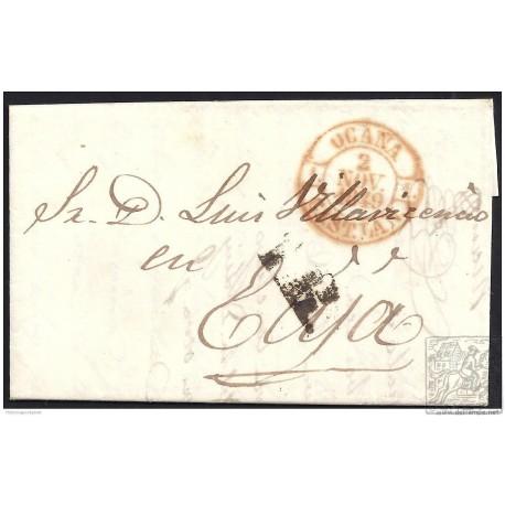 1849. ESPAÑA. SPAIN. OCAÑA A ECIJA.