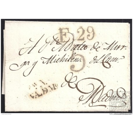 1824. ESPAÑA. SPAIN. VALDEMORO A MADRID.