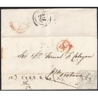 1853. ESPAÑA. SPAIN. CANARIA A PUERTO DE LA OROTAVA. PRECIOSA Y RARA.