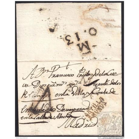 1797. ESPAÑA. SPAIN. VILLAREJO A MADRID.
