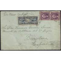 1929. 1933. 2 CARTAS PROCEDENTES DE ARGENTINA Y PUERTO RICO. VÍA AÉREA.