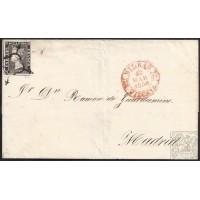 1850. ESPAÑA. SPAIN. BILBAO A MADRID. 6 CUARTOS. ED. 1.