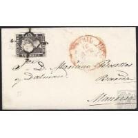 1850. ESPAÑA. SPAIN. MOTRIL A MANRESA. 6 CUARTOS. ED. 1A.