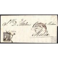 1850. ESPAÑA. SPAIN. DON BENITO A MÉRIDA. 6 CUARTOS. ED. 1A.