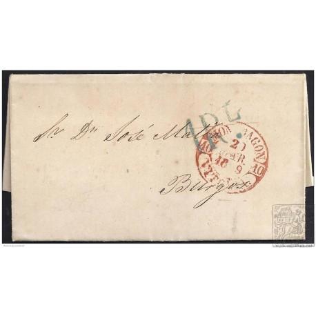 1849. ESPAÑA. SPAIN. ESCORIAZA A BURGOS.